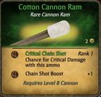 Cotton cannon ram