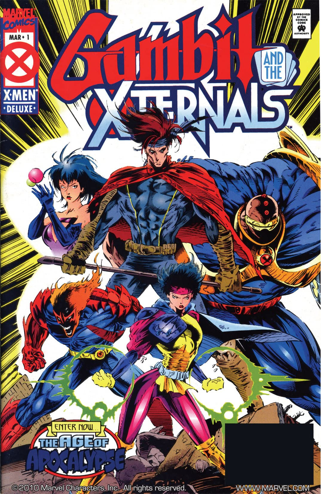Gambit and the X-Ternals #1 cover
