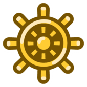 Golden Wheel Pin