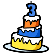 3rd Anniversary Cake Pin