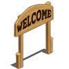 Welcome Sign Fence-icon