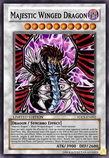 Majestic Winged Dragon jpgYugioh Cards 5ds Dragons