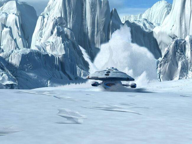 USS Voyager crashes in snow