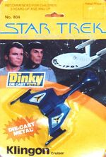 Dinky Toys No.804 Klingon Cruiser 1980