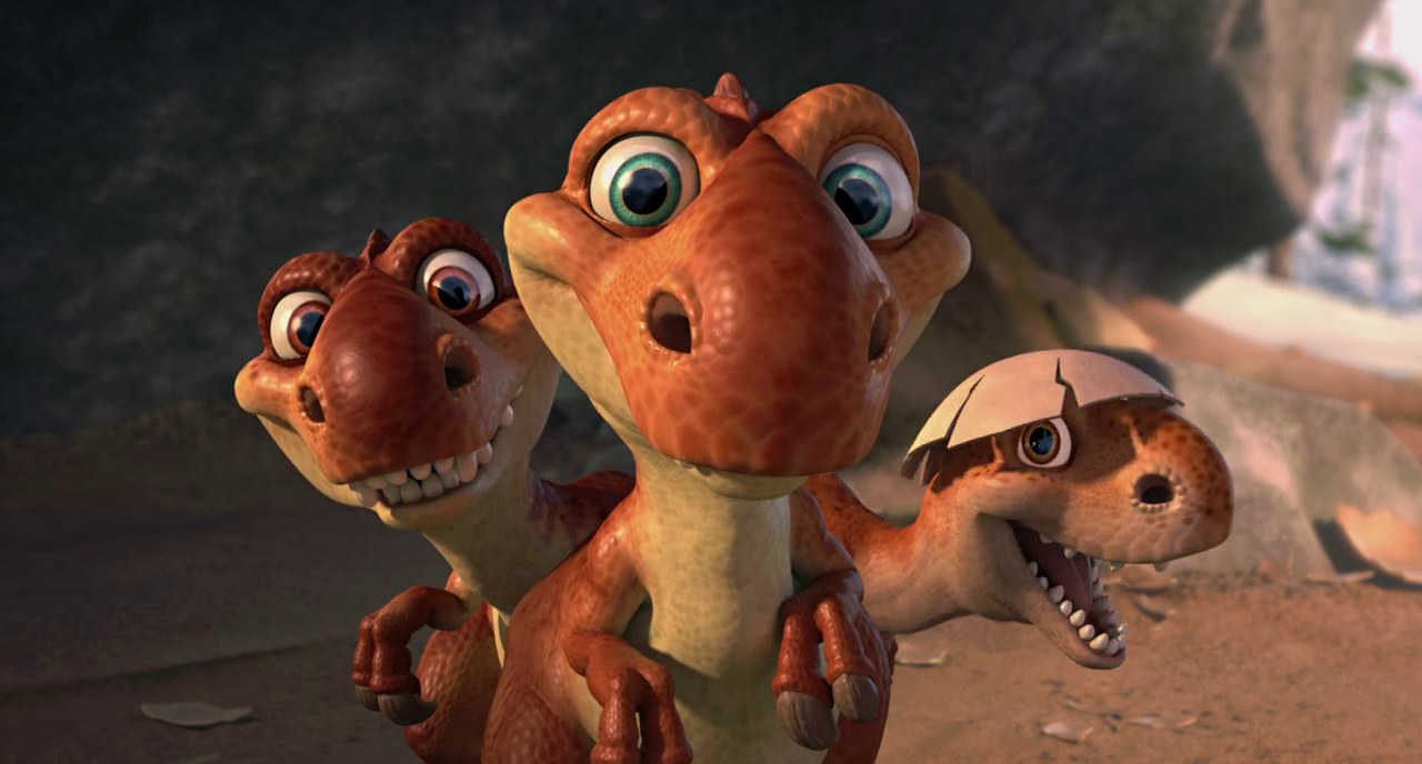 Image - Sid and the baby dinos.jpg - Ice Age 3 Wiki |Ice Age 3 Baby Dinosaurs