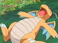EP254 Dragonite descansando