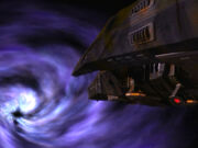Hirogen ship black hole