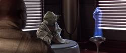 Obi Wan rapporteerd aan Yoda en Mace Windu