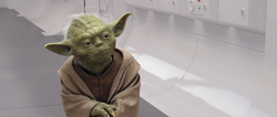 Yoda op Bail Organa&#39;s Tantive