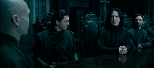 Snape &amp; Voldemort discussing Harry Potter&#39;s whereabouts