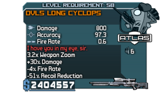DVL5 Long Cyclops Zaph