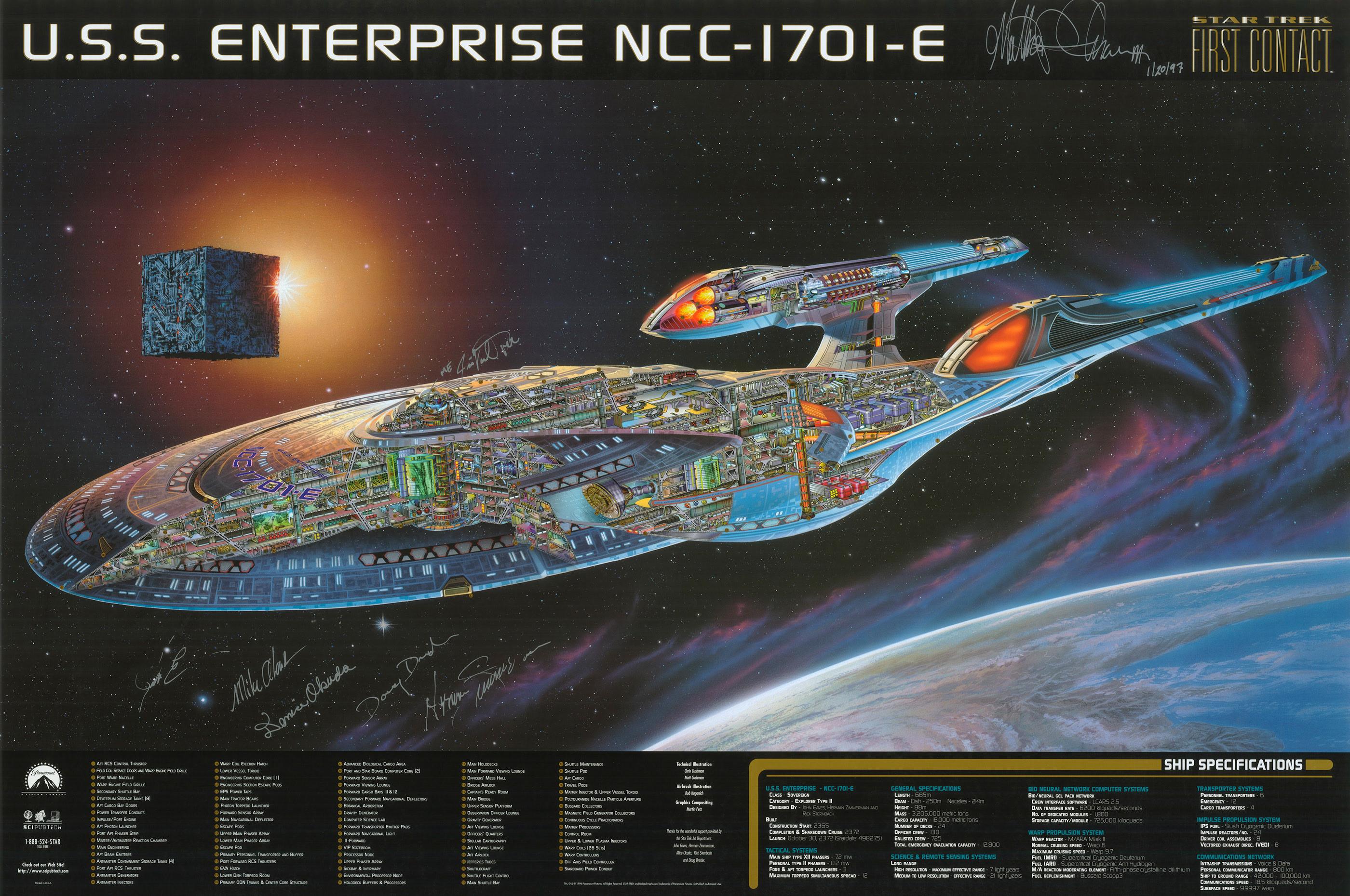 Enterprise ncc 1701 e cutaway poster