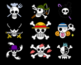 One Piece jolly roger mugiwara