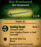 War Broadsword