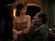Kira and drunk Cardassian II