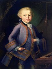 Wolfgang amadeus mozart child