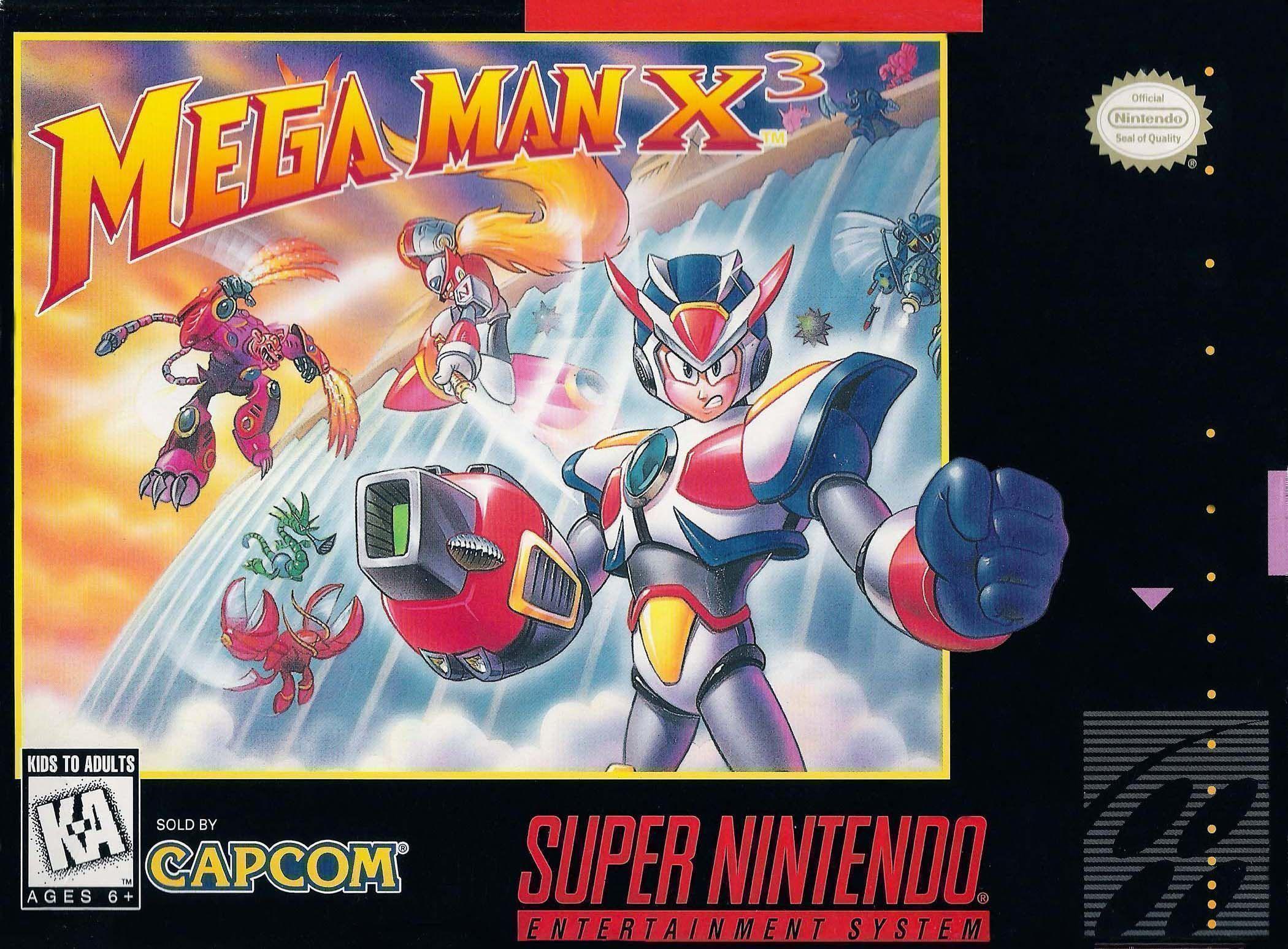 Mega Man X3 Box Cover Art
