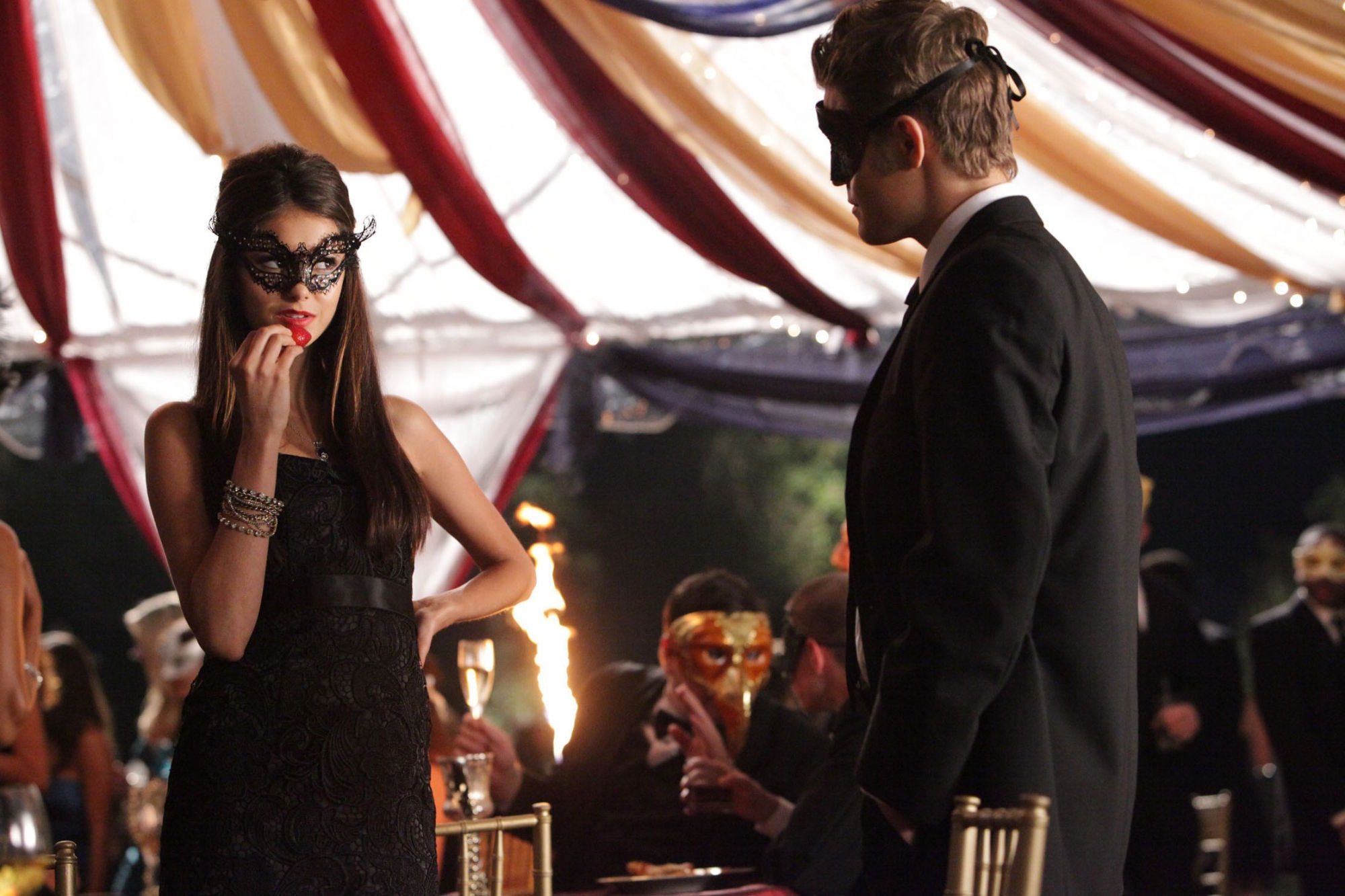 Katherine Pierce And Black Venetian Mask 1539458