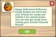 Halloween Candy Basket