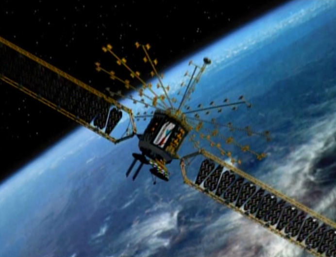 Write about artificial satellites pictures