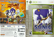 Sonic The Hedgehog (2006) - Box Artwork - US Front And Back (Platinum Hits) - (1)