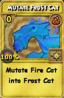 Mutate Frost Cat Treasure Card