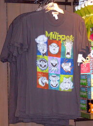 Muppets faces disneyland shirt 2010
