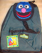 Grover head backpack accessory network