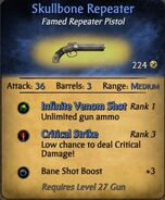 Skullbone repeator pistol