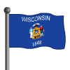Wisconsin Flag-icon