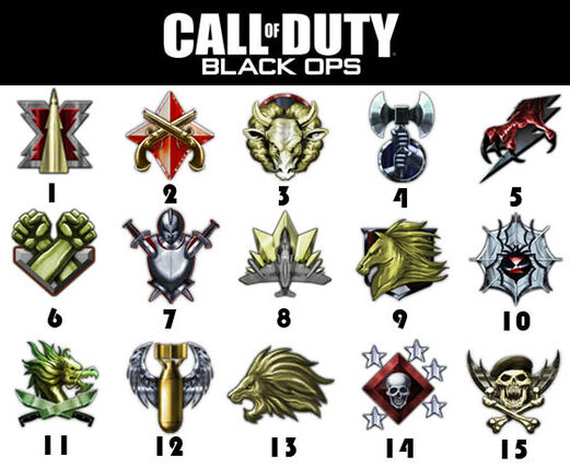 black ops prestige levels symbols. Does anyone know where there are any