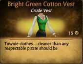 Bright Green Cotton Vest