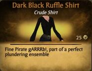 Dark Black Ruffle Shirt