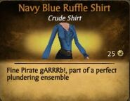 Navy Blue Ruffle Shirt