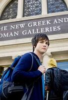 Percy Jackson in front of the Museum in NYC in The Lightning Thief film