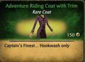 Adventure Riding Coat with Trim