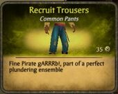 Recruit Trousers