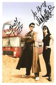 David tennant michelle ryan signed photo
