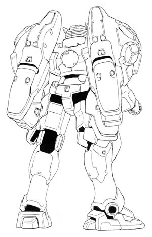 WF-02MD (OZ-03MD) Virgo II Back View Lineart
