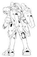 OZ-00MS3 Tallgeese III Back Lineart
