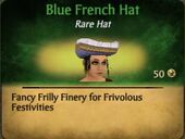 Blue French Hat