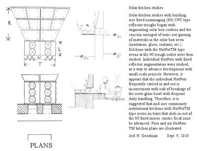 Goodman, solar kitchen studies