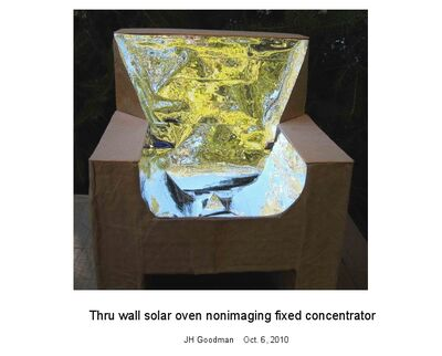 Goodman, Thru wall solar oven nonimaging fixed concentrator
