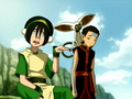 Toph, Aang, and Momo.png