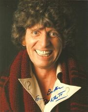 Tom baker signed photo 2