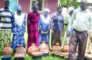 Councellor Opondo with SWP beneficiaries