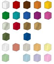 LEGO Digital Designer Colour Chart
