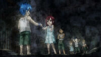 Jellal and Erza with their friends in their days of slavery~