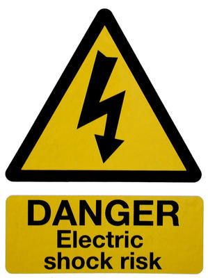 Electrical danger sign3259-1-