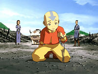 Aang distraught